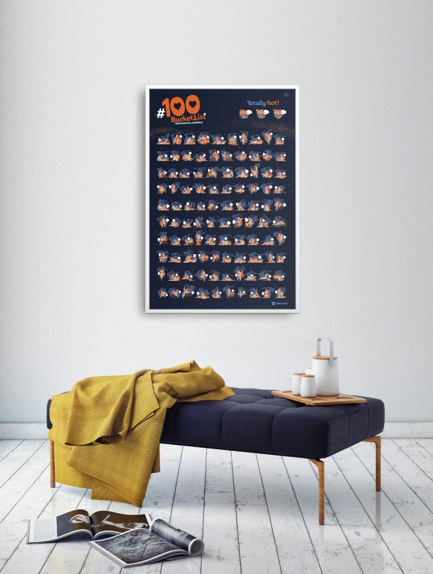 plakat zdrapka kamasutra design wnętrze
