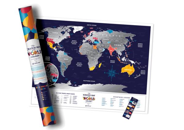 mapa zdrapka wakacyjna świat