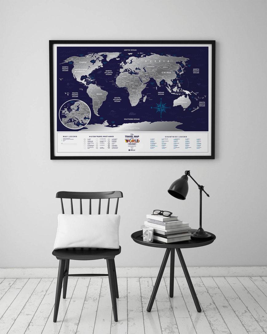 mapa zdrapka wakacje wnętrze