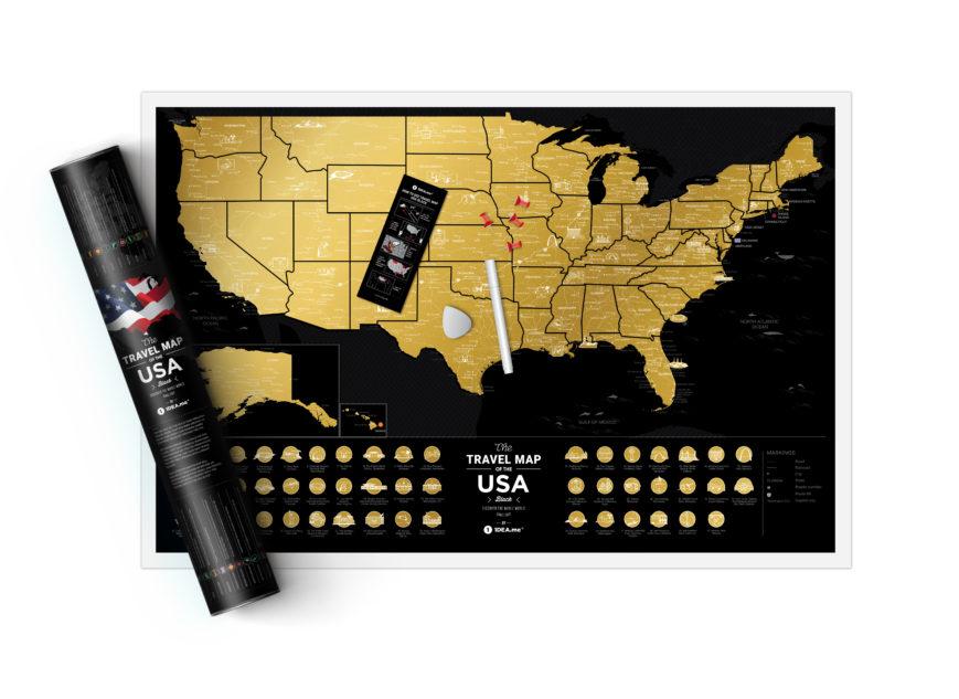 mapa USA Czarna 4
