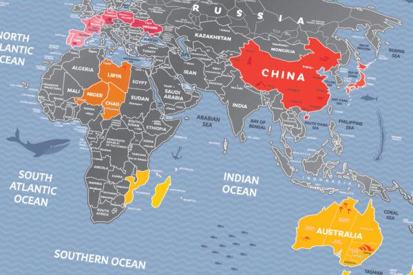 mapa zdrapka świat weekend tanio