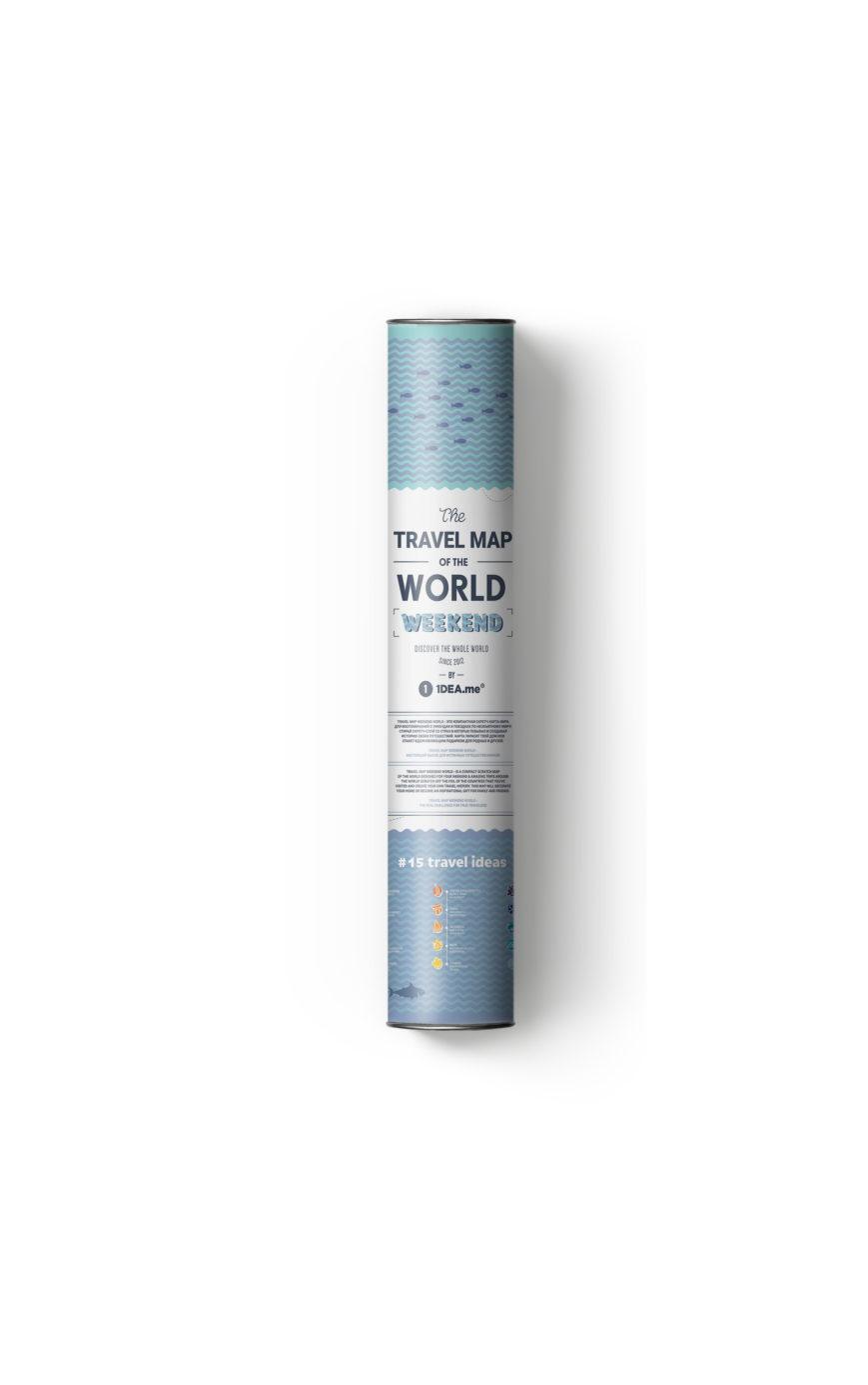 mapa zdrapka świat tanio tuba