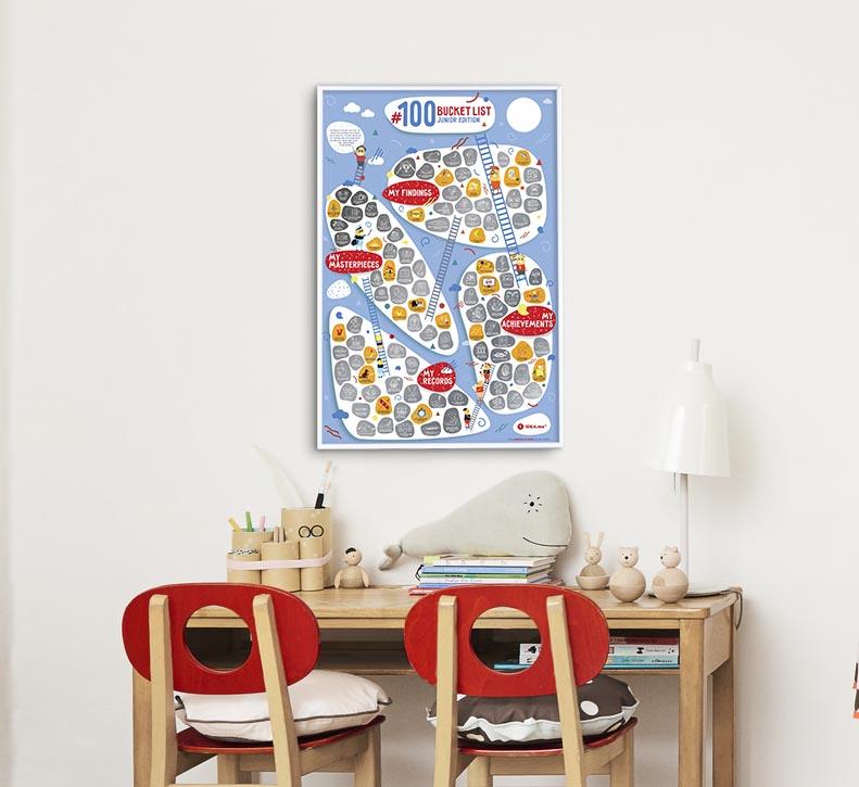 Plakat Bucketlist Kids na ścianie