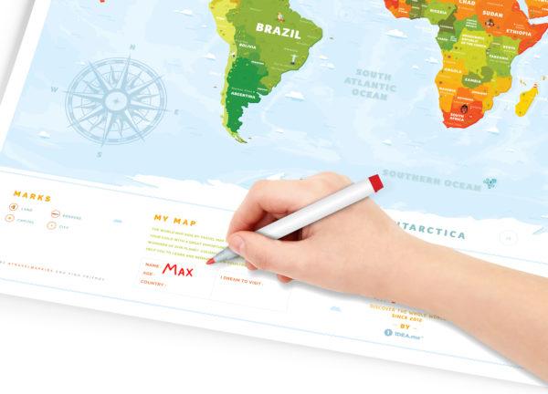 mapa zdrapka dla dzieci miejsca interaktywna prezent