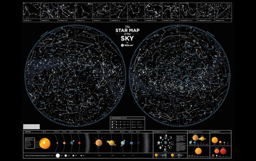 SMS STERNENHIMMEL geschenk kosmos geschaft schwarz 9