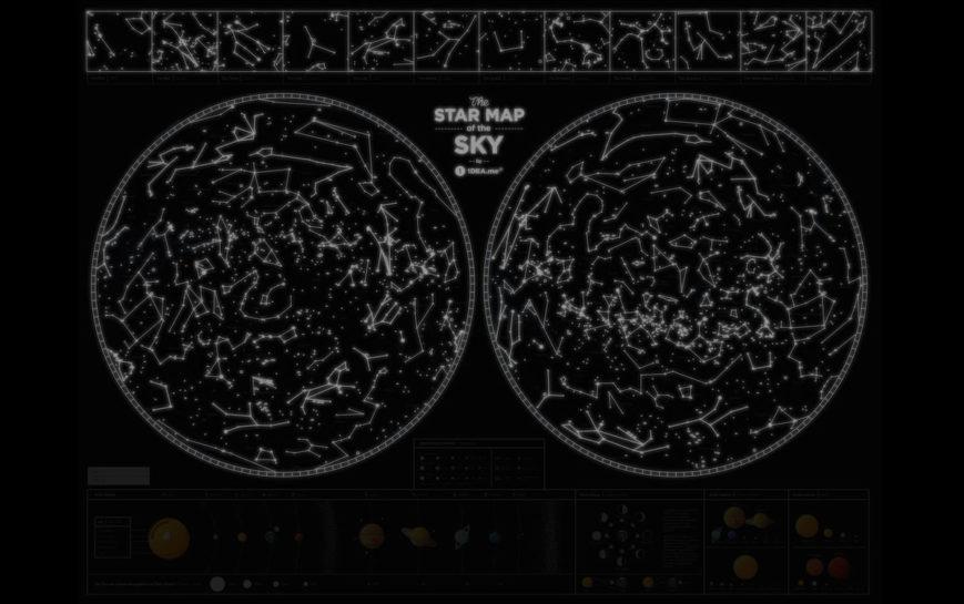 SMS STERNENHIMMEL geschenk kosmos geschaft schwarz 7