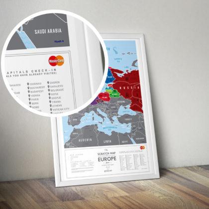 Mapa Europa z brandingiem