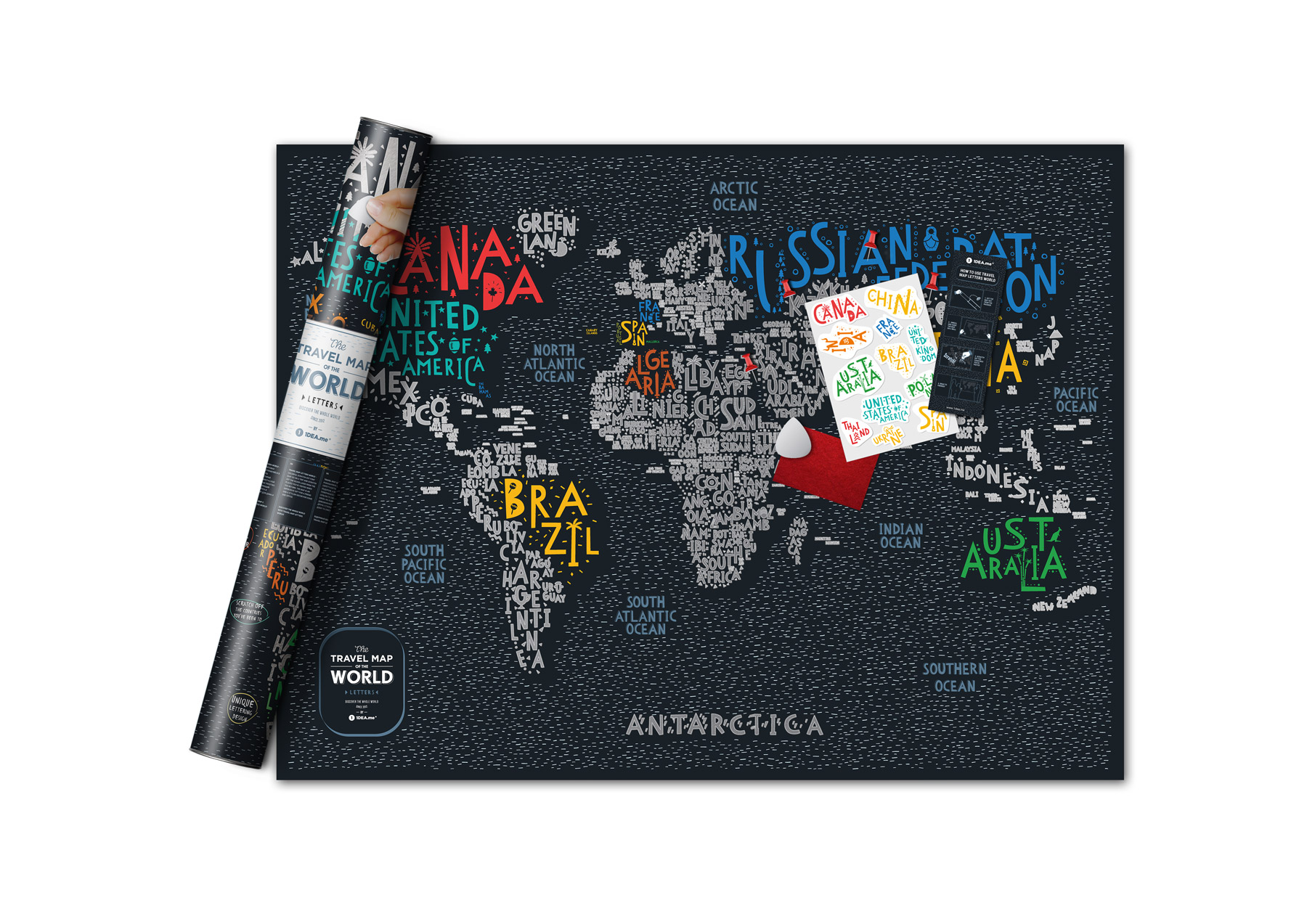 Rubbelkarte Welt
