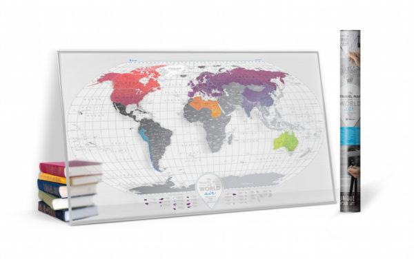 AW transparent karte welt gross geschenk geschaft kratzer 16