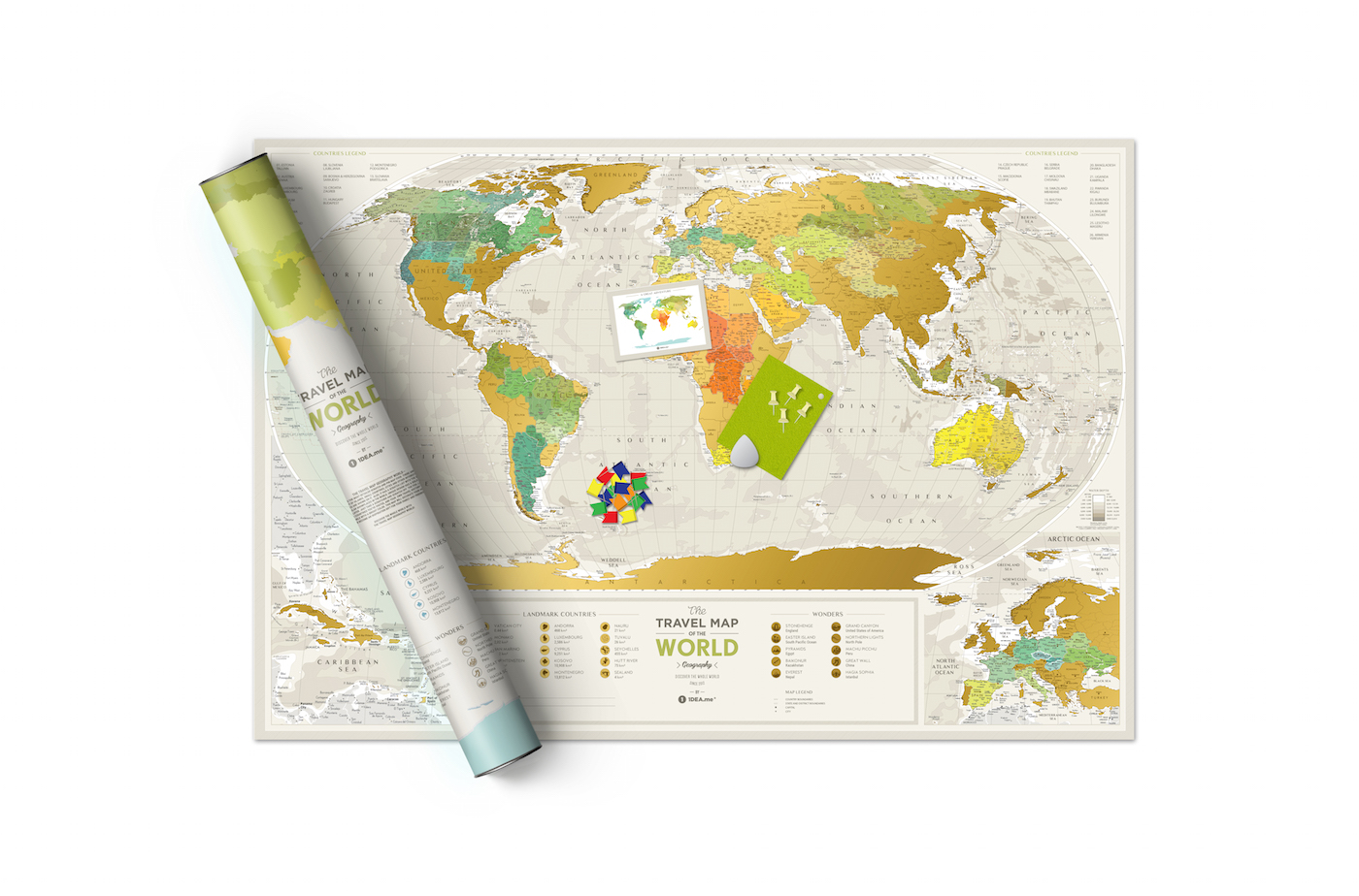 Rubbelkarte Welt Travel Map Geography World Rubbel Karte Karten