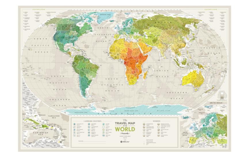 GEOW kratzer karte welt geography geschenk geschaft 9