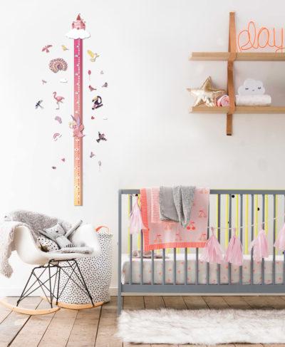 RG miarka wzrostu zdrapka dzieci prezent różowa wróżka wnętrze 4