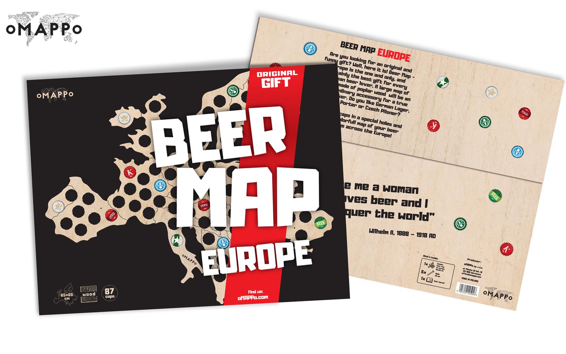 Bierkarte europa geschenk geschaft 5
