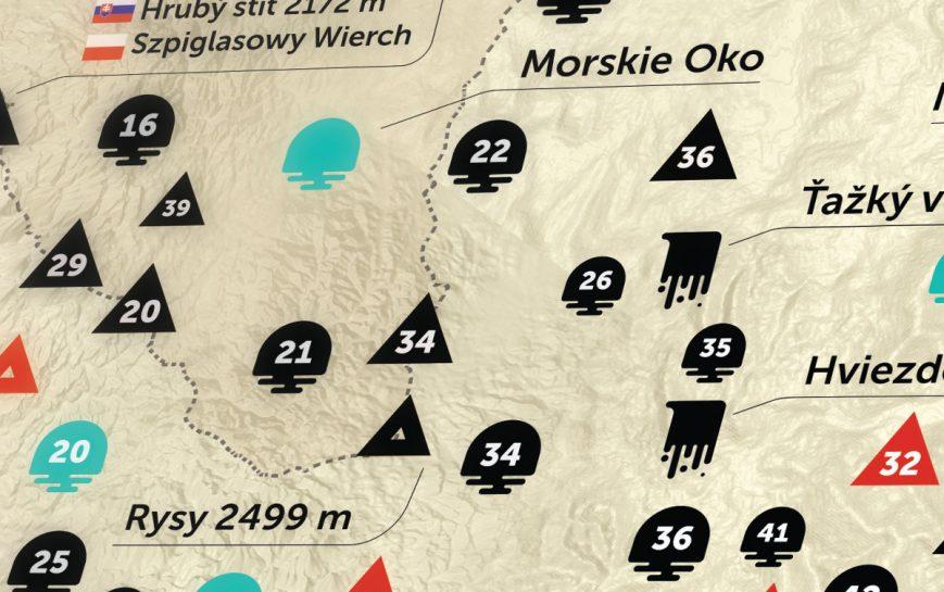 K2 karte gebrige TATRA geschenk geschaft Kratzer 7