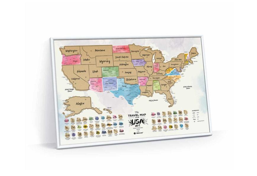 RUBBELKARTE Travel Map™ USA Art - Rubbel Karte | Karten und Plakate ...