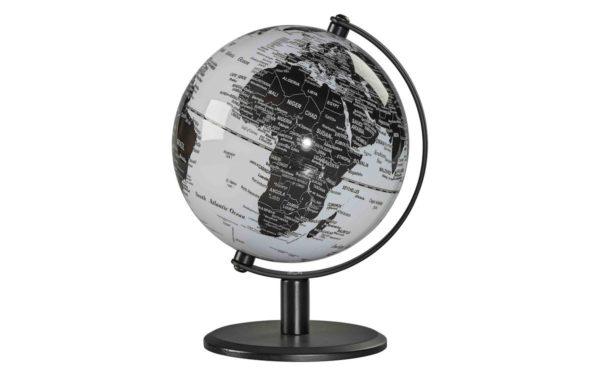 DESK GLOBE 6 MONOCHROME czarny biały globus