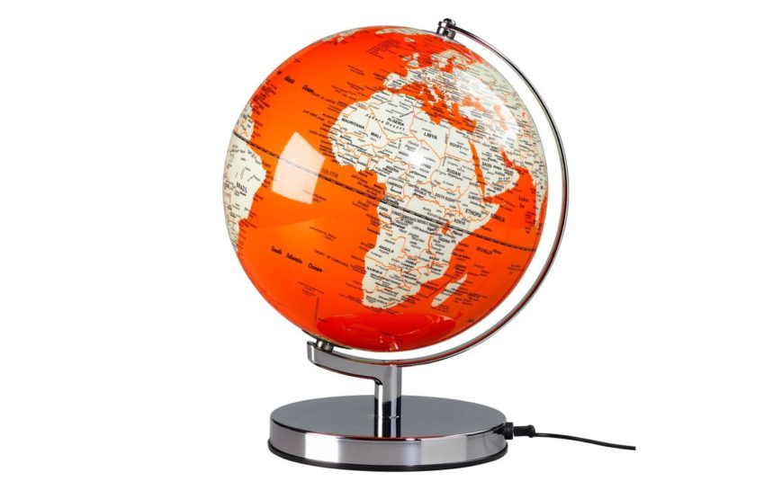 GLOBE LIGHT 10 INCH GOLDFISH ORANGE_globus pomarańczowy