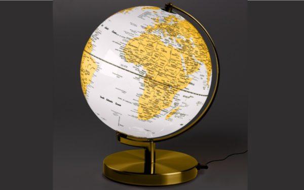 wild & wolf globe weiss elegant golden